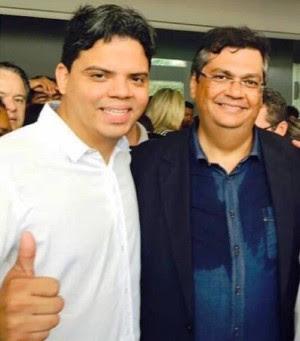 Luciano Genésio e Flávio Dino