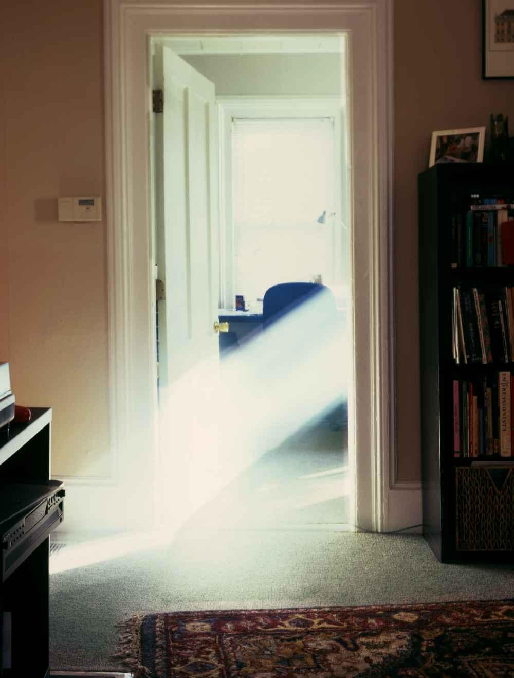 Visible Light: Artist Alexander Harding Reveals Dense Rays of Sunlight Pouring through Windows light