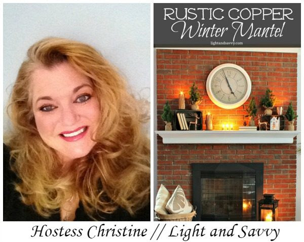 Cozy Rustic Copper Winter Mantel
