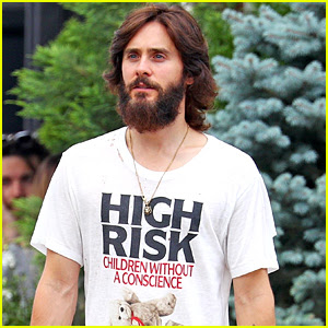 Jared Leto Shows Off His Full Beard in NYC