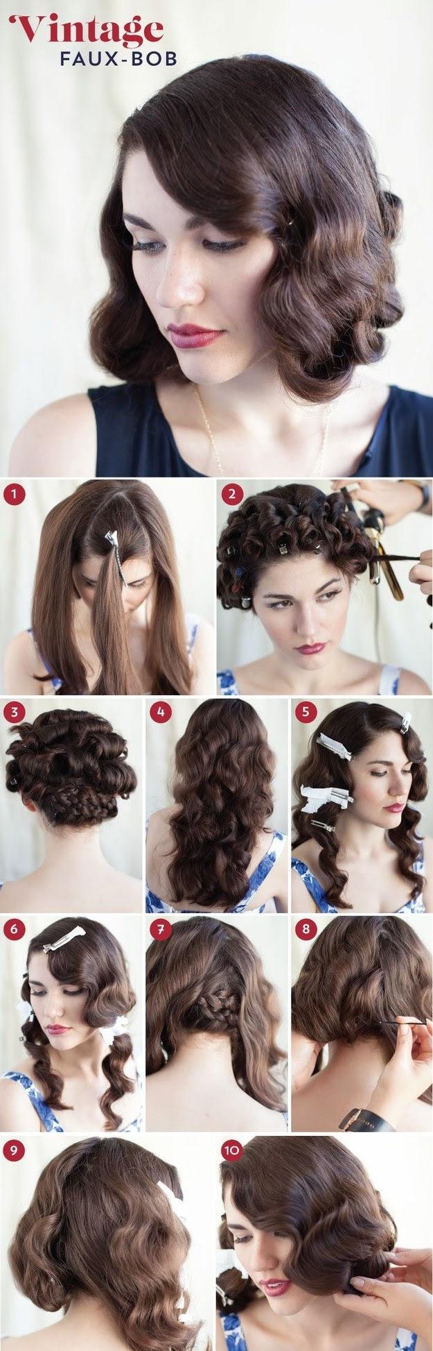 30 DIY Vintage Hairstyle Tutorials For Short Medium Long Hair