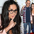 No specs appeal here! A bespectacled Demi Moore displays more strange behaviour as she parties with Terry Richardson