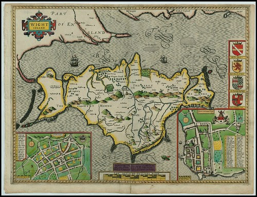 Hampshire - Isle of Wight, England -- John Speed proof maps 1605-1610