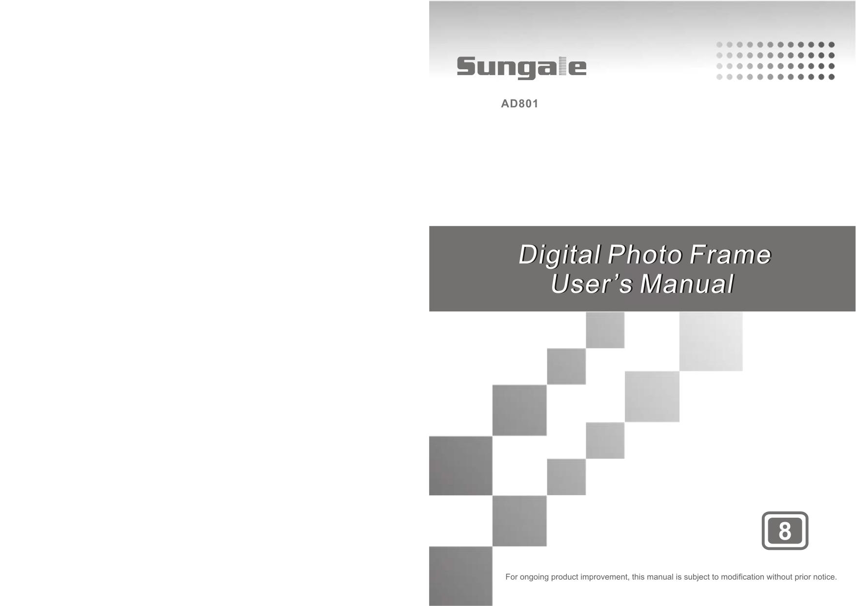 Pdf Manual For Sungale Digital Photo Frame Ad801