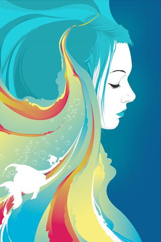 Vector Girl Iphone Wallpaper Idesign Iphone