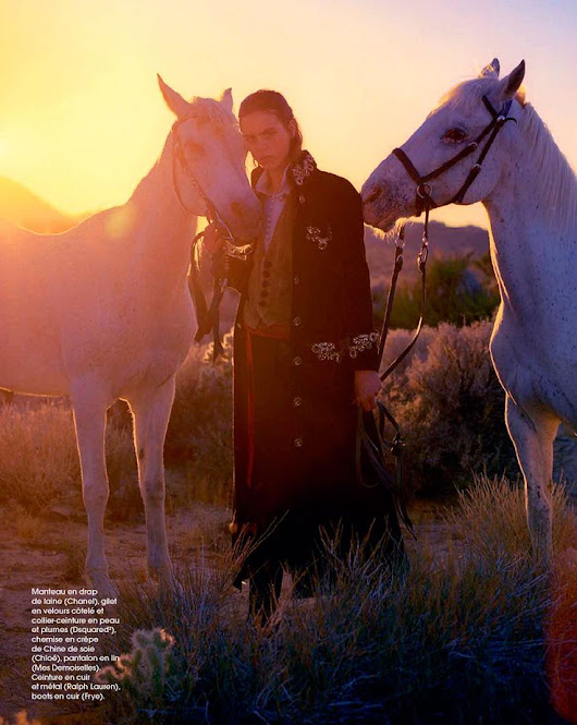 Racing Future's ‪#‎Horses‬ ‪#‎Art‬ ‪#‎Fashion‬ ‪#‎Photo‬ of the Day -- Contrée Solitaire | Elina Kechicheva for Marie Claire France September 2015 … | Pinterest