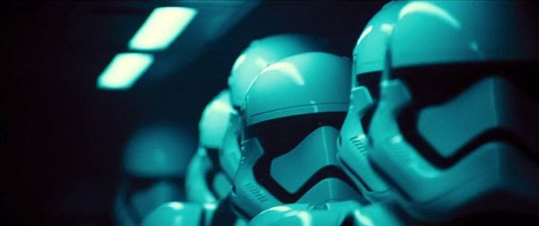 Stormtroopers get ready to go on the attack in STAR WARS: THE FORCE AWAKENS.