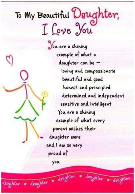 To my beautiful daughter   Message For My Daughter