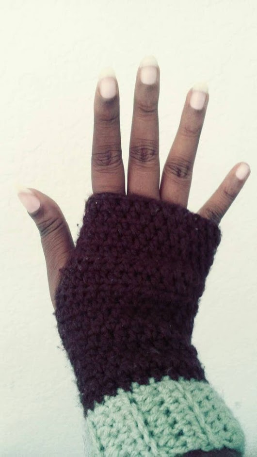 Custom Crocheted Fingerless Gloves choose your color
