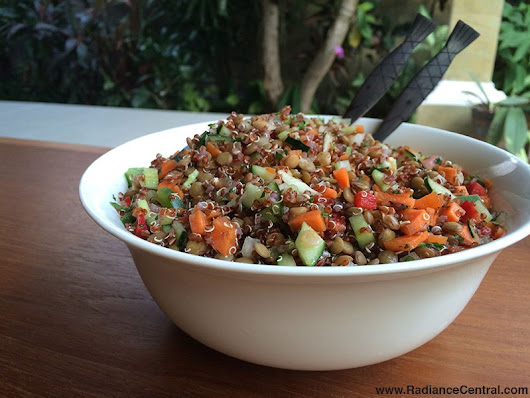 Quinoa Lentil Salad Recipe, Ep131 « Eating Healthy « Radiance Central
