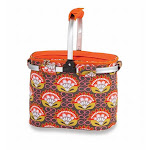 Picnic Plus PSM-148OM Shelby Collapsible Market Tote - Orange Martini