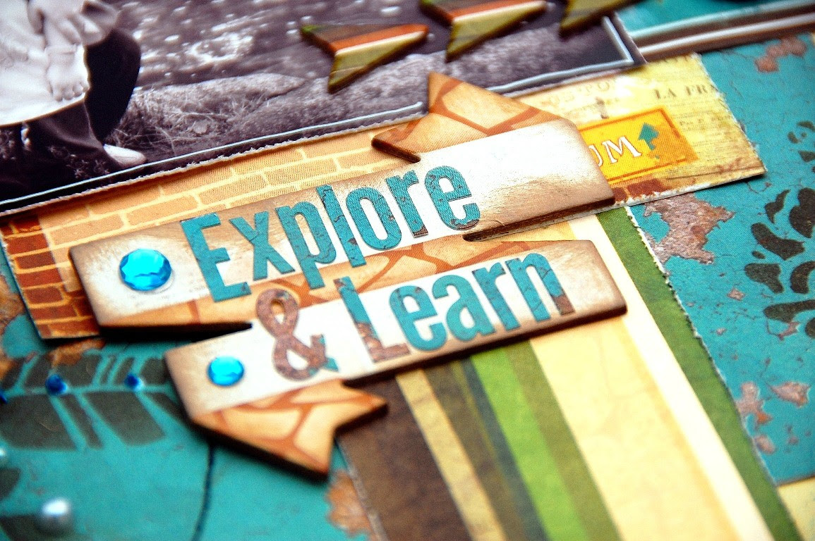 Explore and Learn Layout by Irene Tan using BoBunny Safari Collection