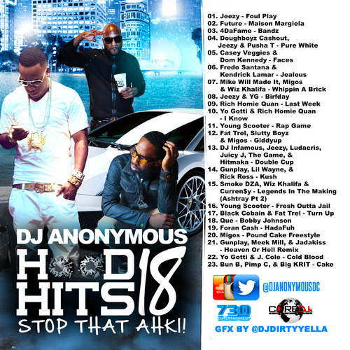 Various Artists - Hood Hits 18 Hosted by DJ Anonymous