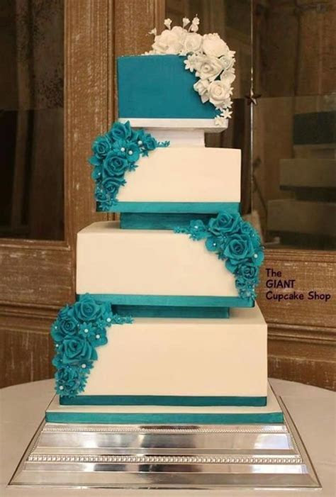 17 Best ideas about Teal Cake on Pinterest   Teal wedding