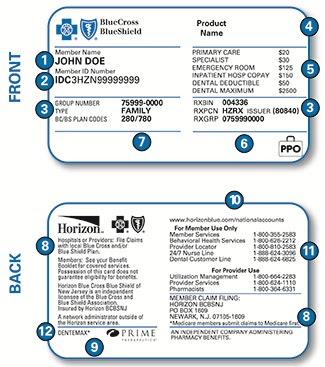 Understanding Your Member ID Card - Horizon Blue Cross ...