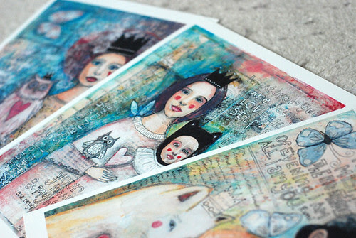 paint over collage prints!