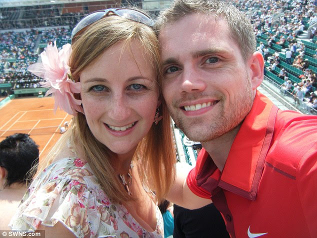 Dr Carl McQueen, 34, was devastated after being told an investigation was to be launched into the death of Lee Hanstock and took his own life (Pictured, Dr McQueen with wife Kirsty)