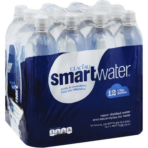 Glaceau Smart Water - 12 pack, 33.8 fl oz bottles