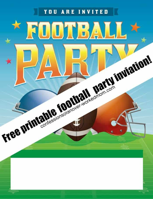 Superbowl Invitation Printable for your Football Party