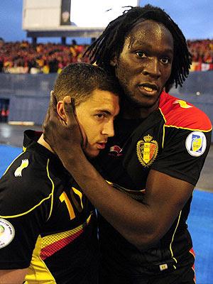 Romelu Lukaku y Eden Hazard