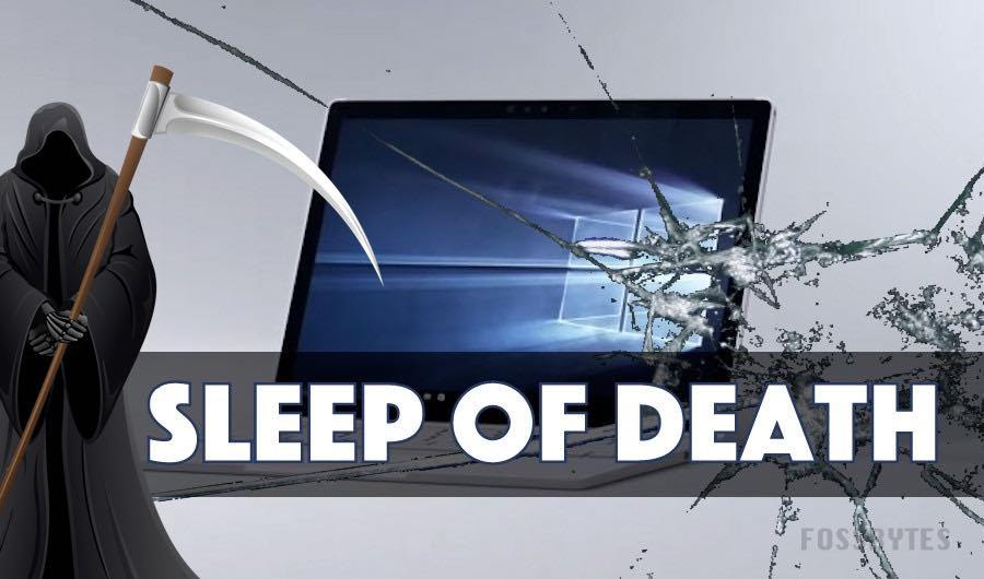 sleep of death bug surface book