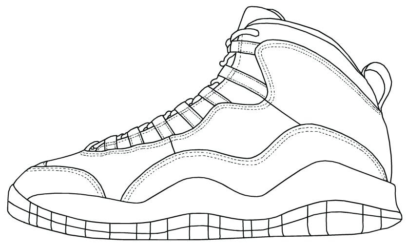 Michael Jordan Shoes Coloring Pages - Super Kins Author