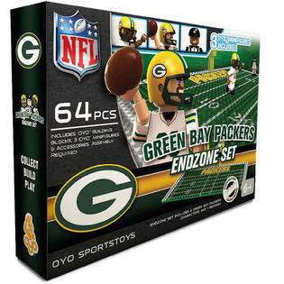 OYO Sports Green Bay Packers 64 Piece End Zone Set