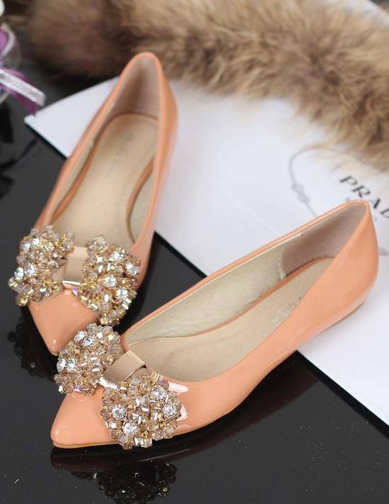 Prada | Crystal Bow Pointed Flats