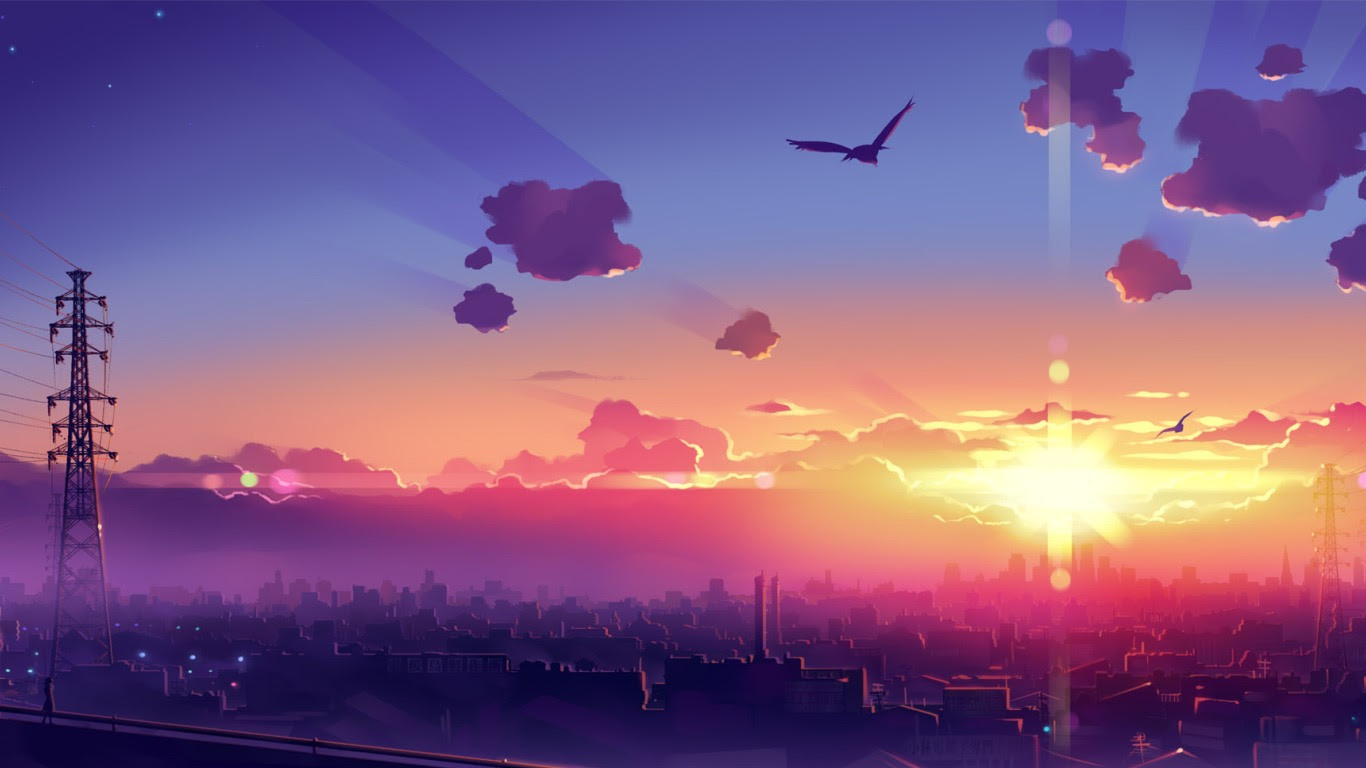Anime scenery backgrounds - SF Wallpaper