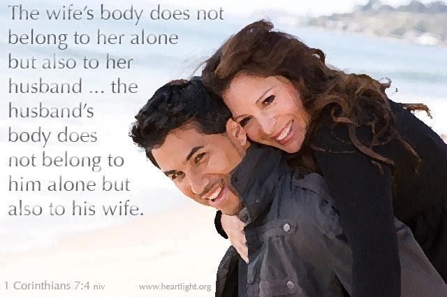 Inspirational illustration of 1 Corinthians 7:4