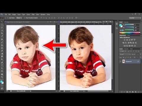 Cartoon art Photoshop Action Tutorial
