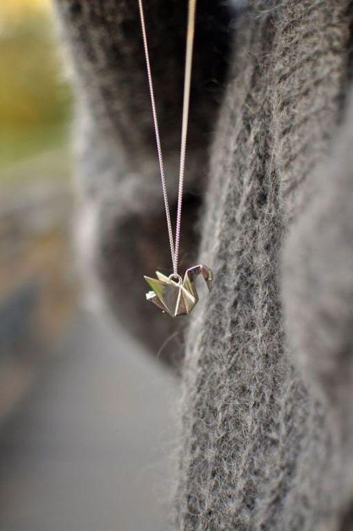 Origrami Crane Necklace
