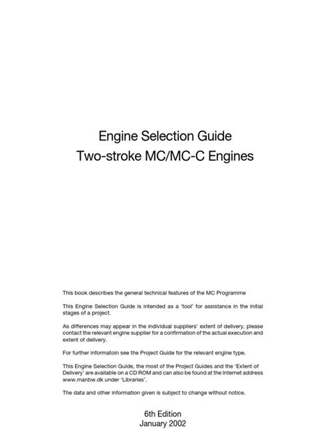 Engine Selection Guide-MAN | Turbocharger | Inline Four Engine