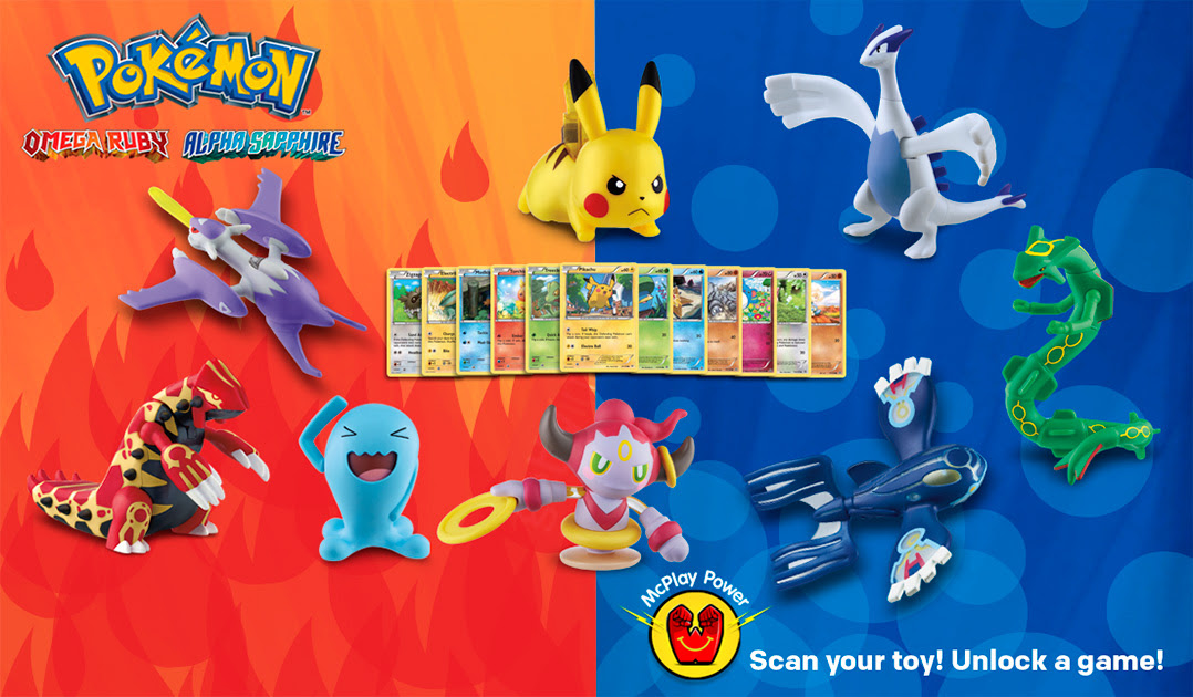 Pokemon Omega Ruby/Alpha Sapphire Happy Meal to offer