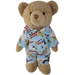 Powell Craft Sales Teddy Bear with Airplane Pj's, Size: Small, White