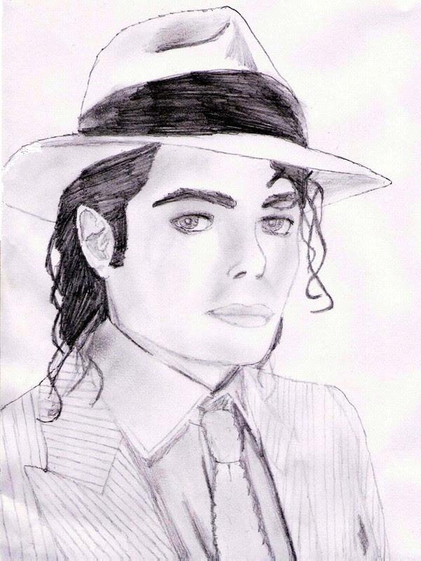 Kleurplaat Michael Jackson 3