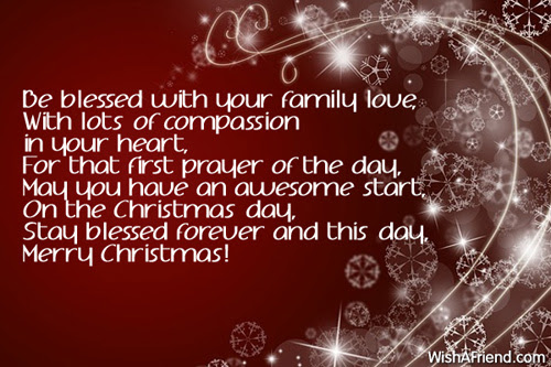 Be Blessed With Your Family Love With Christmas Blessings