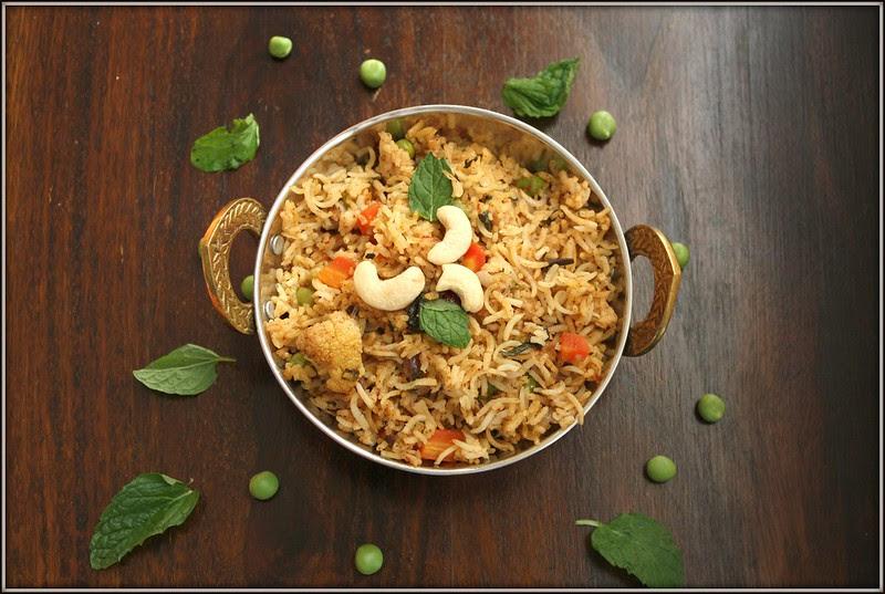 vegetable biryani rice cooker