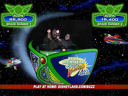 Buzz Lightyear Astro Blaster Scores