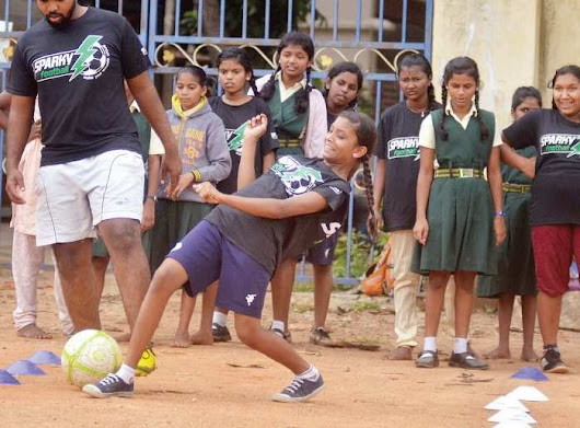 These Bengaluru schoolgirls can prove that when it comes to football, you don't always need fancy studs to get going - Bangalore Mirror -