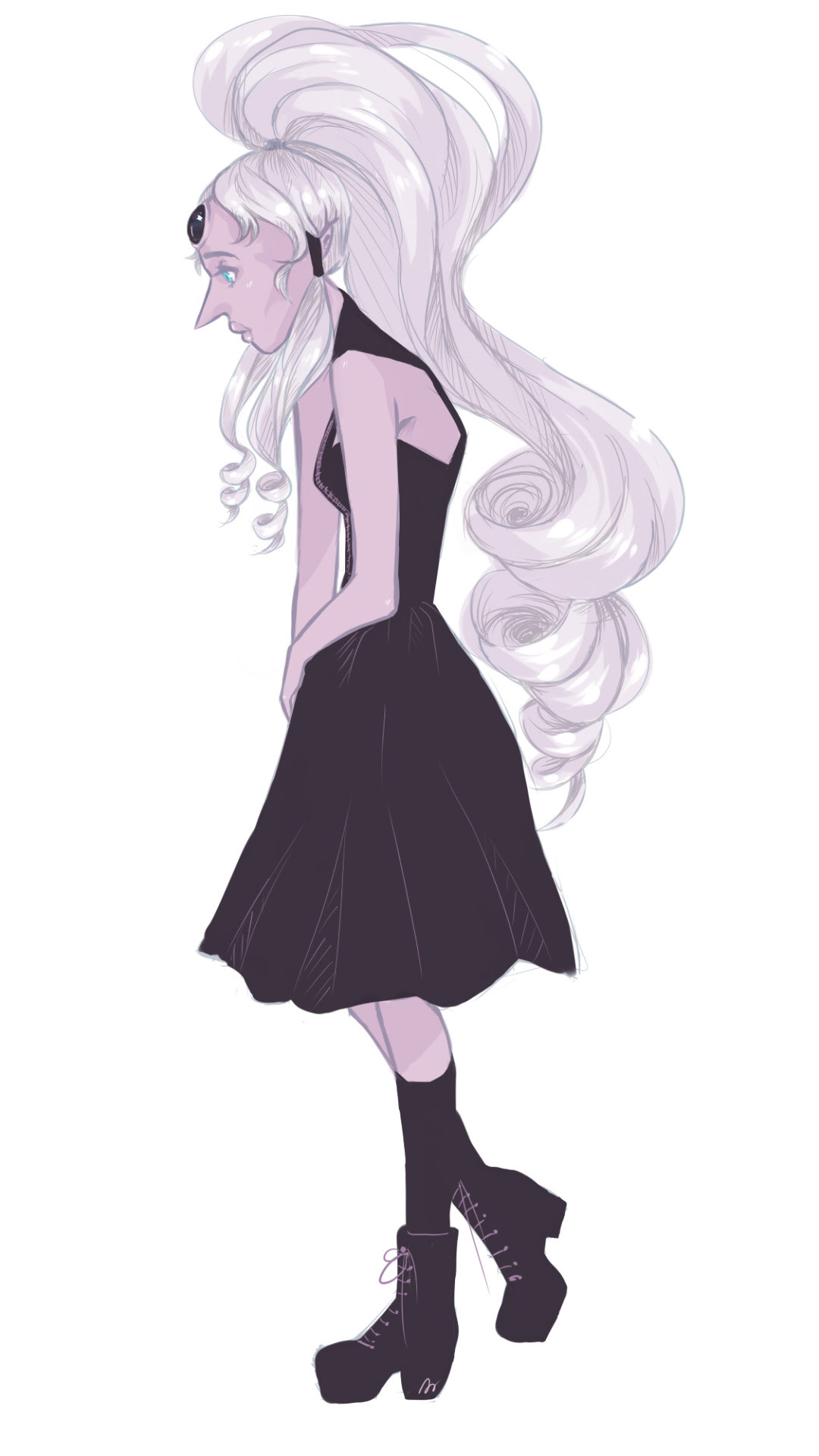 okay.. i forgot about blopal, and then i saw fanart and i had to look up goth fashion and go to town?