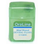 Oraline 12 Yd Mint Waxed Dental Floss 144/Cs