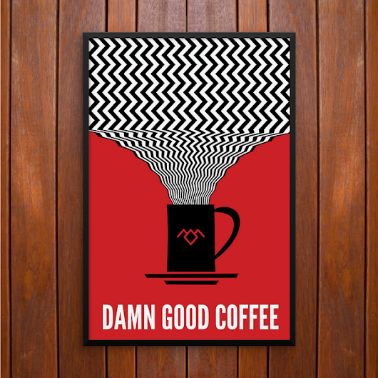 Twin Peaks, Damn Good Coffee Poster or Framed Print