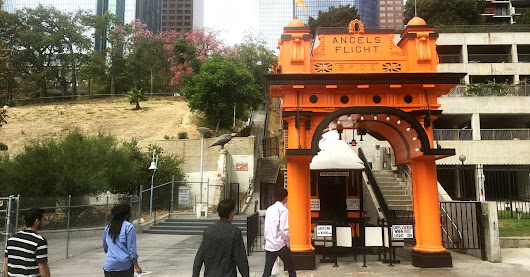 Angels Flight, LA's tiny railway, is a trip back in time