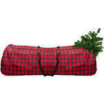 """54"""" Red and Black Plaid Rolling Tree Christmas Tree Storage Bag For Artificial Trees Up To 9ft by Christmas Central"""