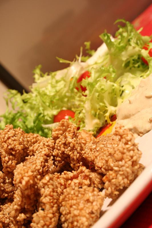 Pollo fritto con salsa remoulade