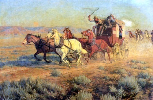 Stagecoach Pursued By Indians