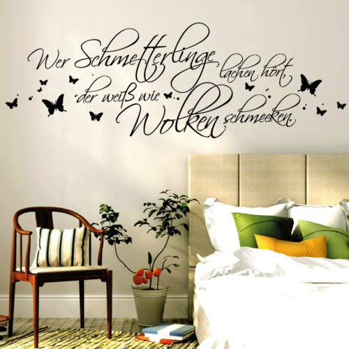 Home Decor Items 10362 Wandtattoo Wer Schmetterlinge Lachen Hort Der Weiss Wie Wolken Schmecken Home Furniture Diy Breadcrumbs Ie