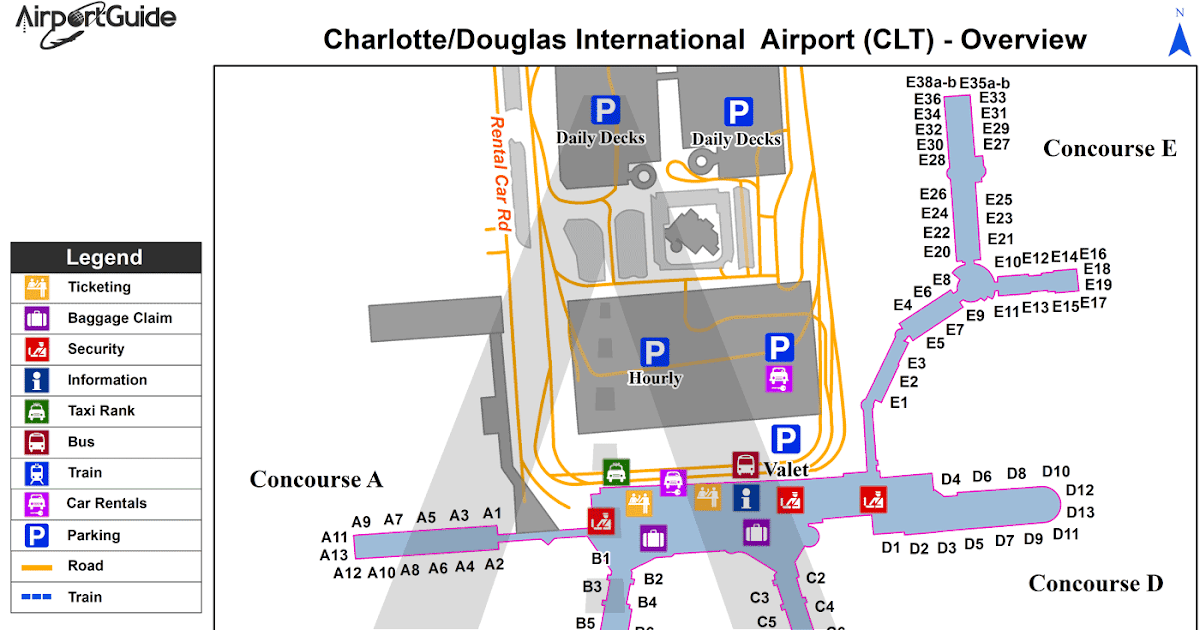 map charlotte nc airport Map Of The World Charlotte Douglas Airport Map map charlotte nc airport
