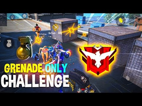 Grenade Only Challenge On High Rank - Garena Free Fire